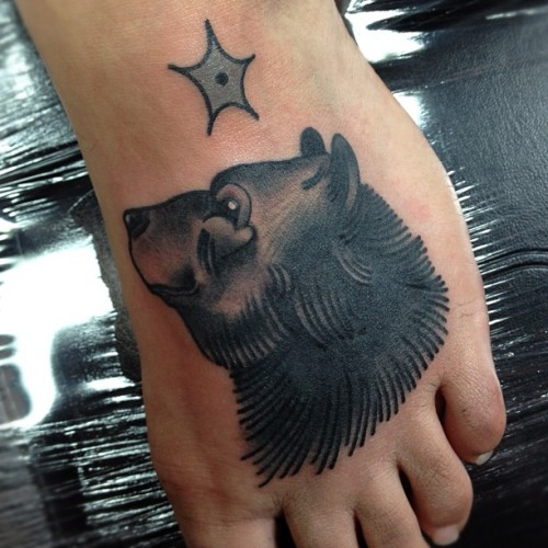 nickbaldwintattoo:  Bearfoot!! (Taken with Instagram at Gung-Ho! Tower of Power)