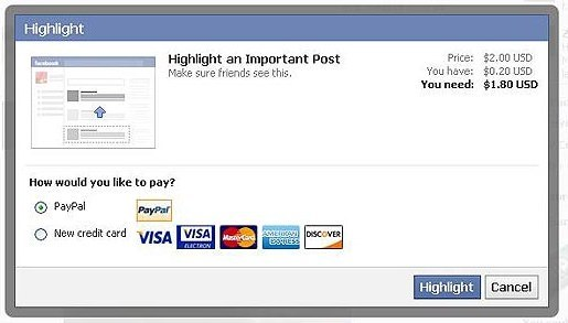 "digithoughts:  Facebook Follows in Tumblr's Footsteps - Tests Highlighted Posts  Facebook copied Tumblr's highlighting idea, but is considering providing a ""free trial"". It's time Tumblr copied someone else's idea. Oh wait, Tumblr is getting ads (Fast Company Article)."