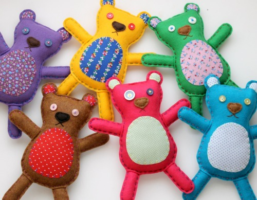 Felt Rag Teddy Bear Plush Toy Softies available wholesale on Etsy