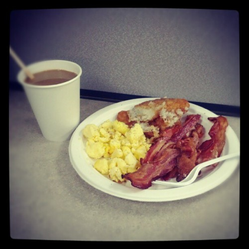 none to shabby for company-provided #breakfast #freeFoodIsTheBestKind (Taken with instagram)
