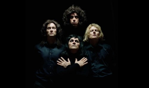 Oli, Stephen, Mark and Julian as Queen.