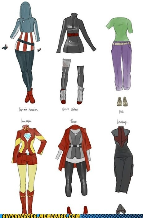 adimensionofmind:  Avengers fashion…   Like!