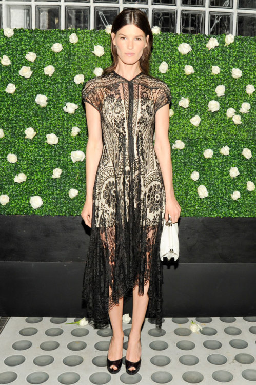 Hanneli at Net-a-Porter dinner in Lover Lace dress.