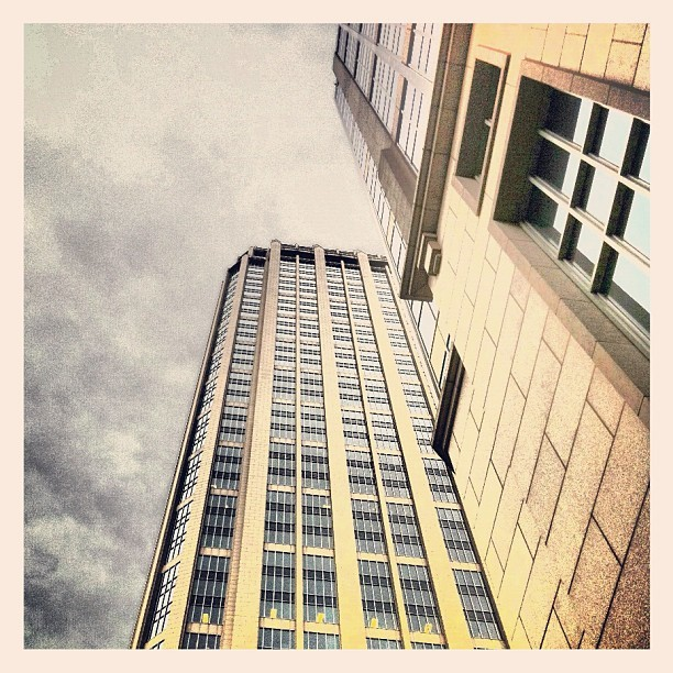 #downtown #atlanta surrounded by #giants. #office #skyscraper #building #picoftheday #mynewofficeissoplayer (Taken with instagram)
