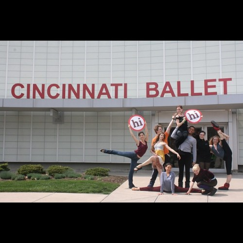 Cincinnati Ballet loves Ohio! @ohiogram #cincinnati #ohio #cincinnatiballet  (Taken with instagram)