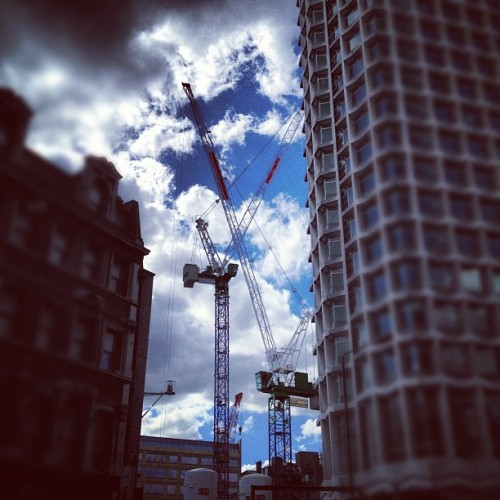 #crane #sky (Taken with instagram)
