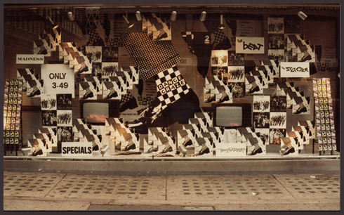 Dance Craze album display HMV Oxford Street 1981 , shop window