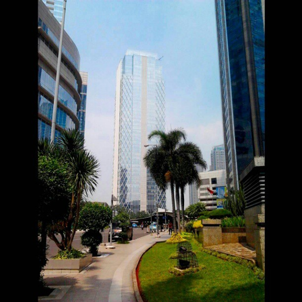 #SCBD #Jakarta #Indonesia #Sunnyday #Pavements (Taken with instagram)