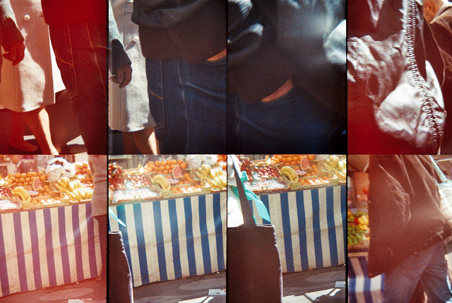 Pockets and Stripes on Flickr.Morning market in Paris. Taken with Oktomat - Lomography. © Bree Sage http://seebreebefree.wordpress.com