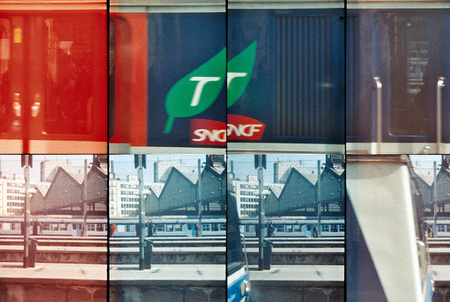 Taking the train on Flickr.SNCF. Paris, FR. Taken with Oktomat - Lomography. © Bree Sage http://seebreebefree.wordpress.com