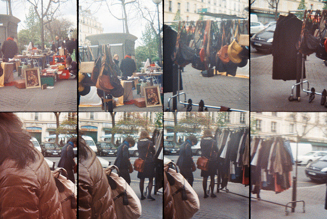 Bags and Clothes on Flickr.Street Markets in Paris, where you find a little bit of everything. Taken with Oktomat - Lomography © Bree Sage http://seebreebefree.wordpress.com