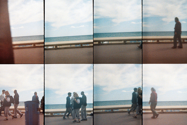 Walking on the shore on Flickr.Cannes, France. Taken with Oktomat - Lomography © Bree Sage http://seebreebefree.wordpress.com