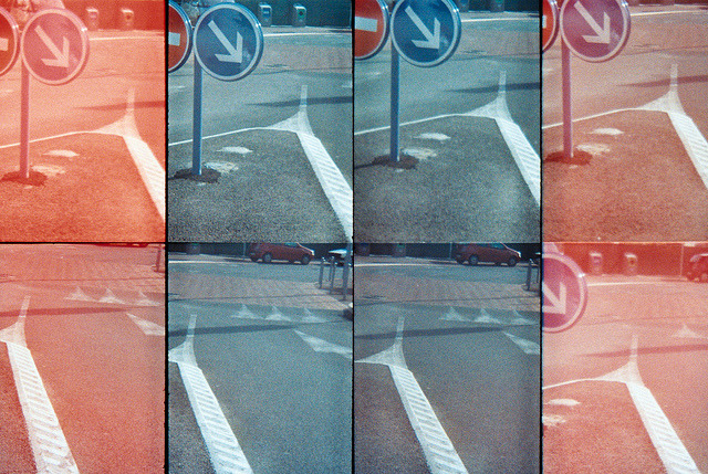 To the right on Flickr.Road signs in France. Taken with my oktomat by Lomography. © Bree Sage http://seebreebefree.wordpress.com
