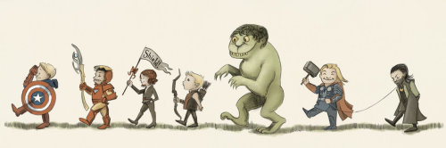 kirbyan:  Avengers on Parade (RIP Maurice Sendak) by ~AgarthanGuide  Brilliant
