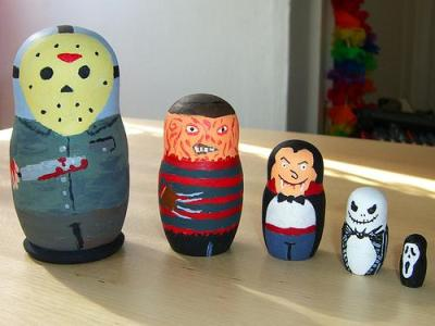 matryoshka dolls + my fav horror characters = perfect