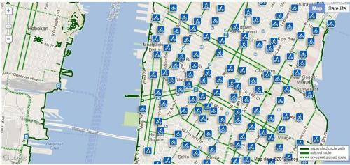 nycdigital:  Today, NYCDOT released a draft of the Citi Bike Station Map. Click here to look for the bike stations near you.   If YM sees anyone on a Citibank bike, we will push you in front of traffic. Only ride credit union bikes.
