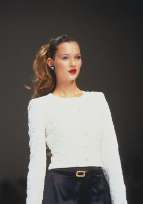 satinandtat:  Kate Moss at Chanel FW 1994