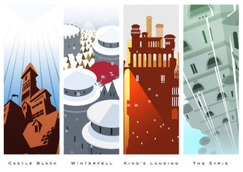 Lovely Game of Thrones castles art on Etsy!