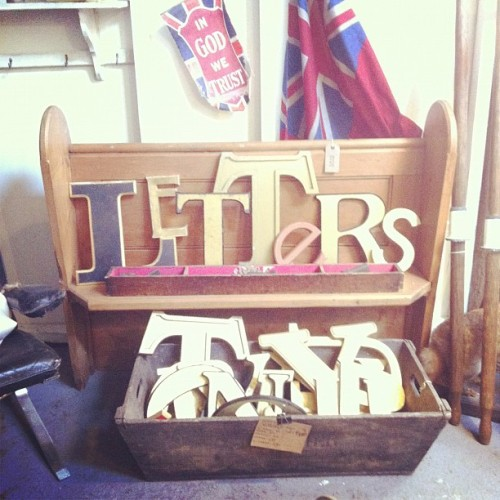 Vintage pub sign letters @homebarn £5- £30 (Taken with instagram)