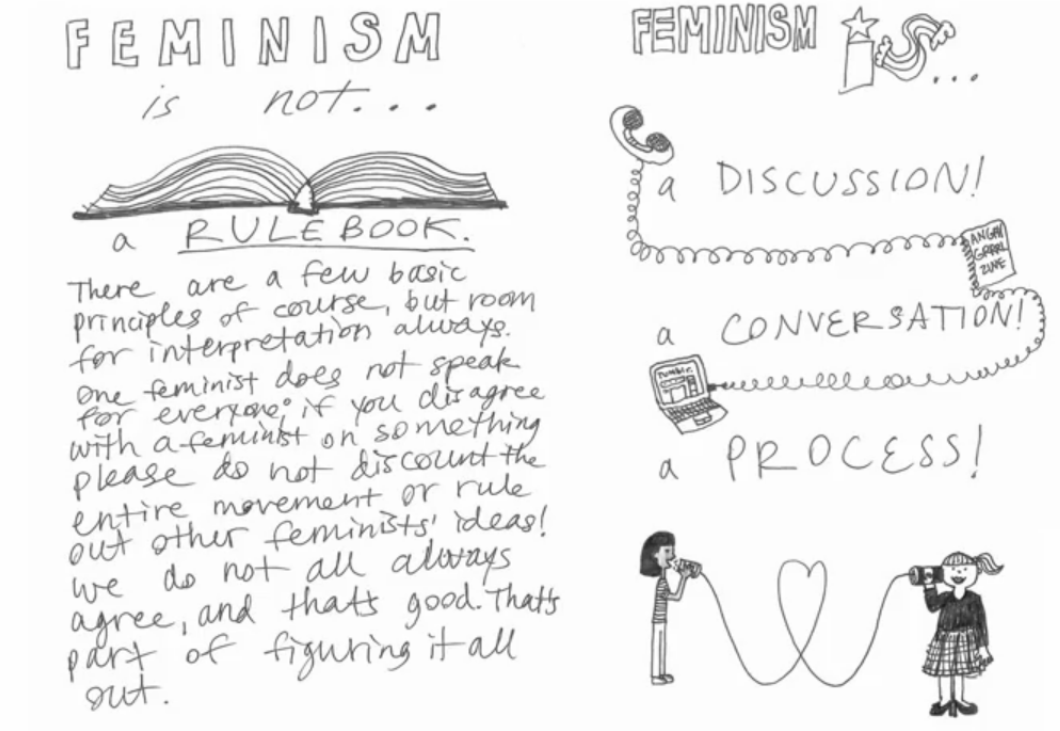 Feminism.Meet Tavi Gevinson, the wise teenager behind this illustration: http://youtu.be/6osiBvQ-RRg