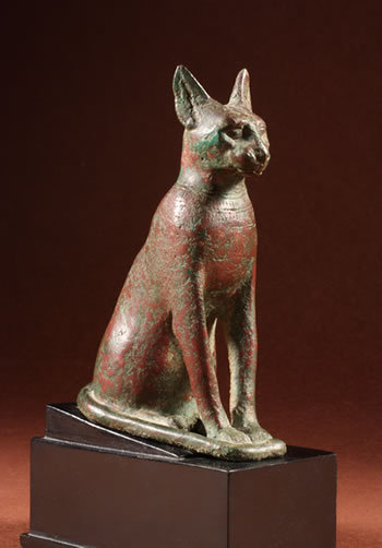 Statuette of a Bastet CatEgyptProbably 6th c. BCE, 26th Dynasty University of Missouri Museum of Art and Archaeology