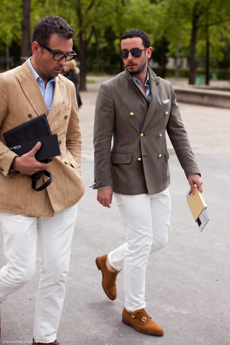 white trousers facebook.com/GentlemanF gentleman-forever.tumblr.com