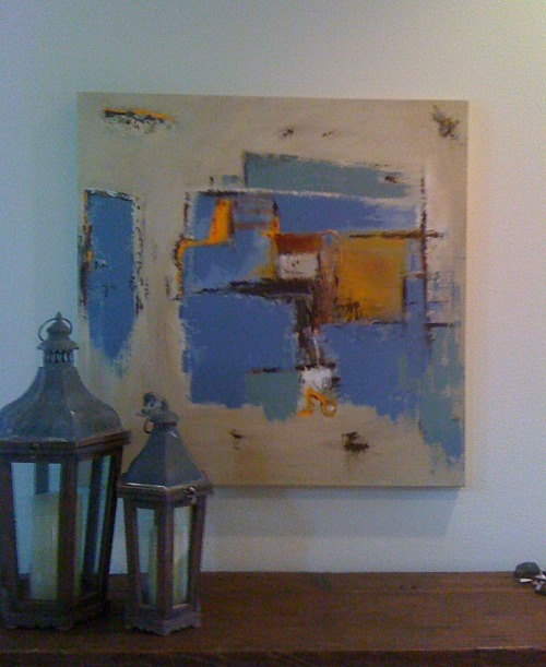 Title: RELIC 36 X 36 inches mixed media on canvas Showhouse Installation Cody Riess Abstract