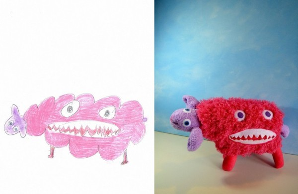 Child's Own Studio  creates soft toys based on children's drawings that their parents send in. Once completed, parents can buy these toys for their children! So cute and so cool! See more toys here.