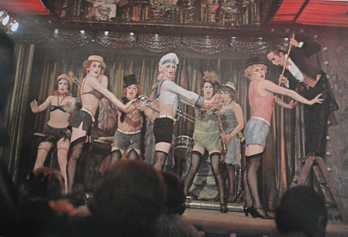 i would really like to play emcee in a production of cabaret.like frank n furter (from rocky horror picture show, another dream role) the emcee has this sort of unconventional sexiness. it's the sort of sexuality i think i convey or try to, if that's possible.rather than the hypersexual alam cummings (and those who followed e.g. NPH, Adam Pascal) way of performing the character, i want to do the unorthodox sexualization of the character. it's just how i truly imagine the character. </rant> to sum it all up, i would like to play the character of emcee, just like joel gray.