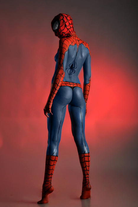 Body paint Spidergirl