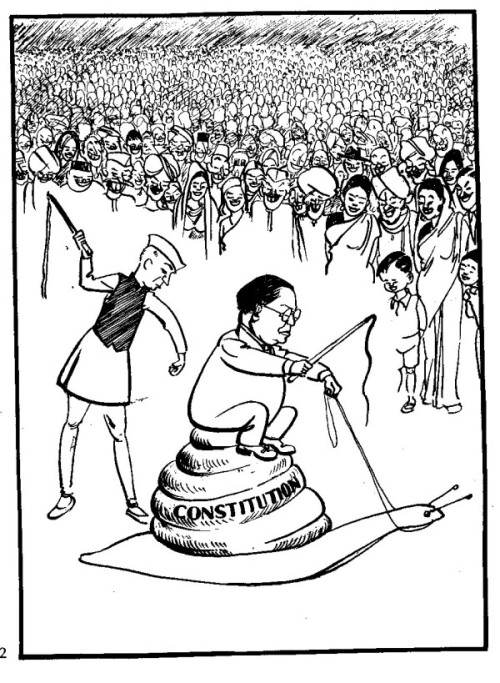 This cartoon by India's Shankar Pillai appeared in a 1949 edition of Shankar's Weekly, a humor and satire magazine published by Indian cartoonist. Today India's education ministry agreed to pull it from a high school textbook. Find out why today on PRI's The World.