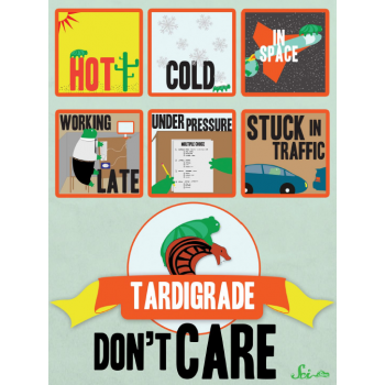 dftbarecords:  Tardigrade don't care! Get this awesome new poster, as seen in Hank's latest video. It is awesome and beautiful and goes on your wall! Get one here.  Tardigrades are awesome! :D