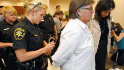 veggielezzyfemmie:  think-progress:  Mary Jamis, a lesbian woman, was ARRESTED yesterday after she and her partner sought a marriage license in North Carolina.  Share this if you think it's outrageous.