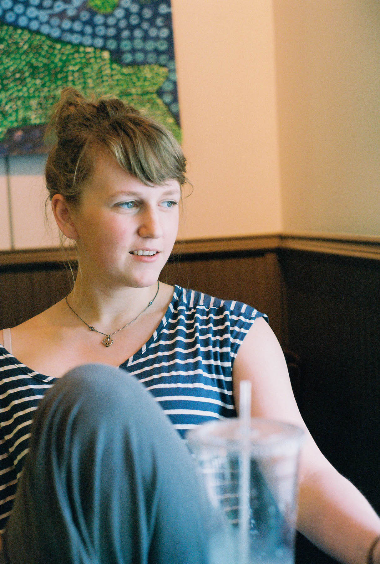 anna as we talked about life at a coffee shop