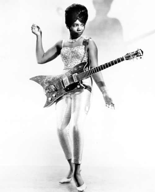"vintagegal:  ""The Duchess"", born Norma-Jean Wofford, was an acclaimed guitarist who played with Bo Diddley and his band from 1962-1966."