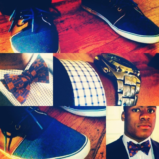 #picstich #bowtie #suit #dressy #casual #mtss #morethanswagsociety #watch #uniqlo #h&m  (Taken with instagram)