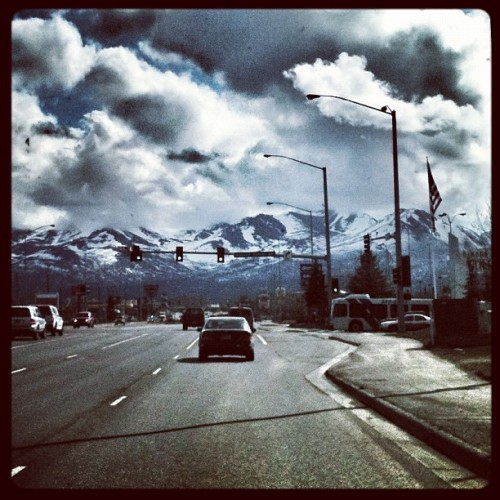 Just a shot from driving around in #anchorage last weekend. #alaska #iphoneonly #iphonography #summer #mountains #cloudporn #skyporn #clouds #driving (Taken with Instagram at Anchorage, Alaska)