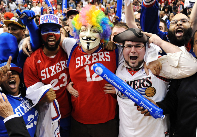 Look at these Philly fans.