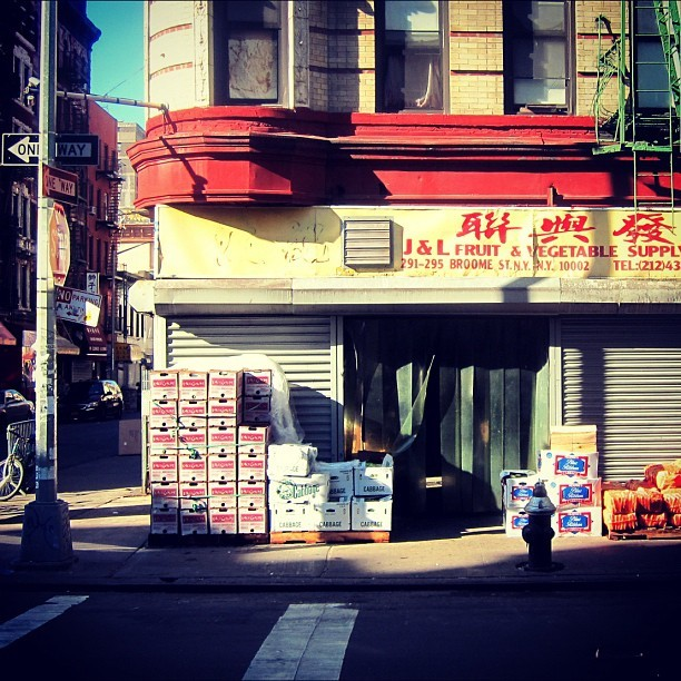 broome street, chinatown. early morning. (Taken with instagram)
