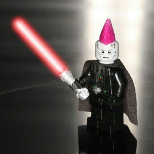 Darth rockin' his mighty 'hawk. #darthvader #darth #starwars #lego #toys #toyphotography #mohawk (Taken with Instagram at SIMpixels Photography)