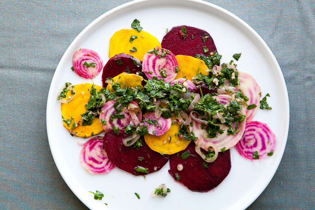 beet crudo with chimichurri from the year in food