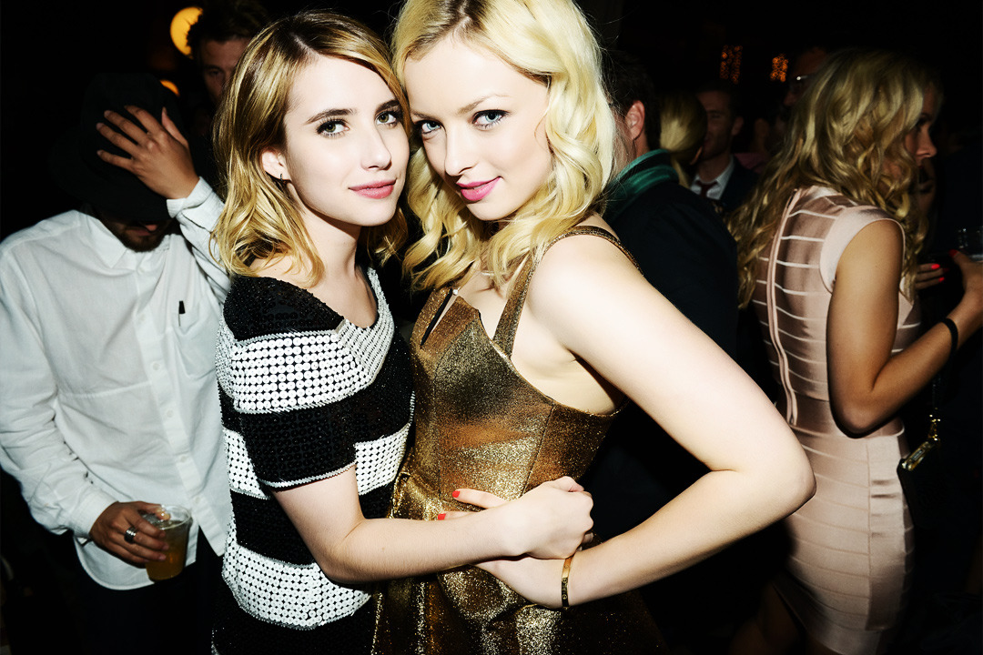 Francesca & Emma at the NYLON Young Hollywood Party 2012 See more of my photos from the party at TheCobrasnake.com.