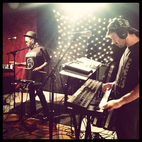 Light Asylum, LIVE in the KEXP studios, 5/11/2012 photo via the KEXP Instagram
