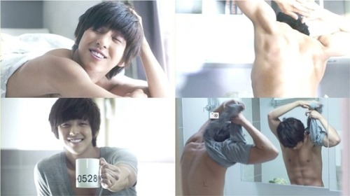 "SuJu's Kim Ki Bum's chocolate abs on TvN's ""I love Italy""~~^^* I miss him ^^*  #ILoveItaly on May 28,2012 ~^^*"