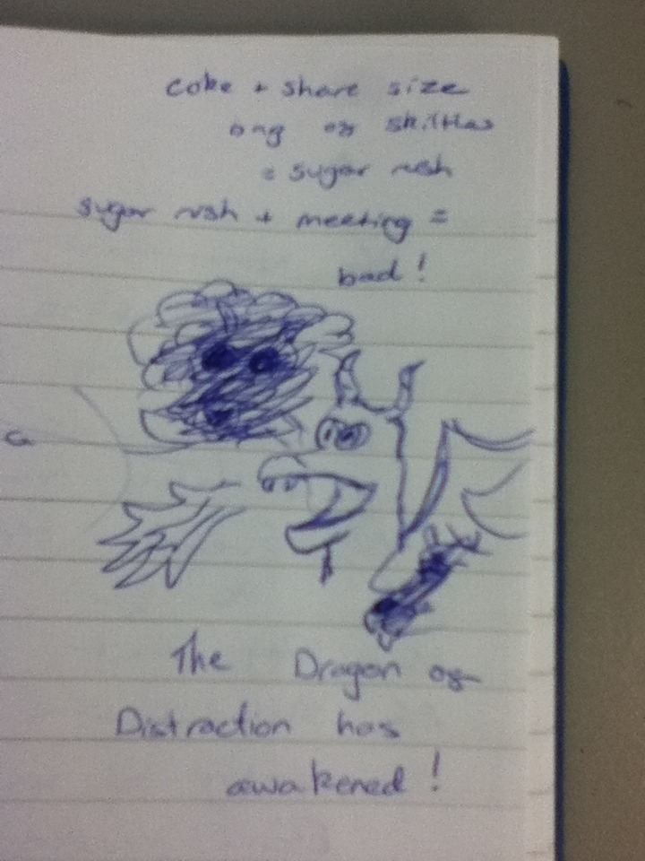 Just your average page of meeting notes…
