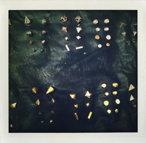 Josh Dotson earrings on leather