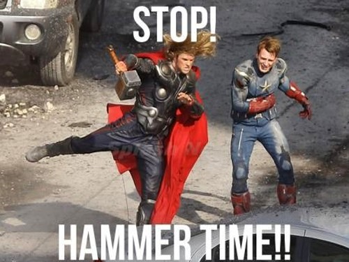 It's hammer time.