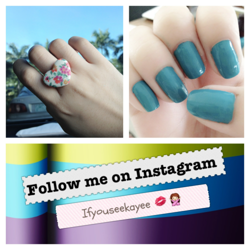 "Follow me on Instagram! :"">"