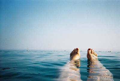 Happy Feet Floating. :)  STOP: Then take the time to remember what's important…