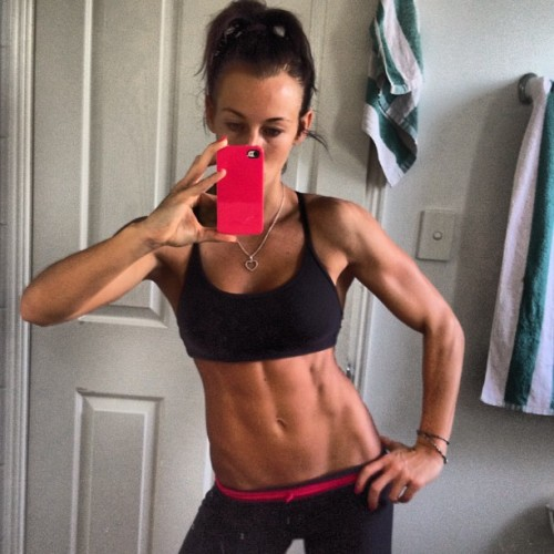 dayummm girllll! looking strong and so lean! #jealous